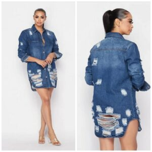 category jean dress blue