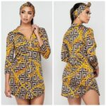 yellow category shirt dress